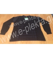 WOMEN'S KNITTED BLOUSE WITH FAKE ARAN AND STRASS