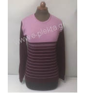 WOMEN'S KNITTED BLOUSE WITH STRIPES