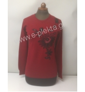 WOMEN'S KNITTED BLOUSE WITH EMBROIDERY