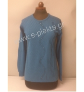 WOMEN'S KNITTED BLOUSE WITH LINKS
